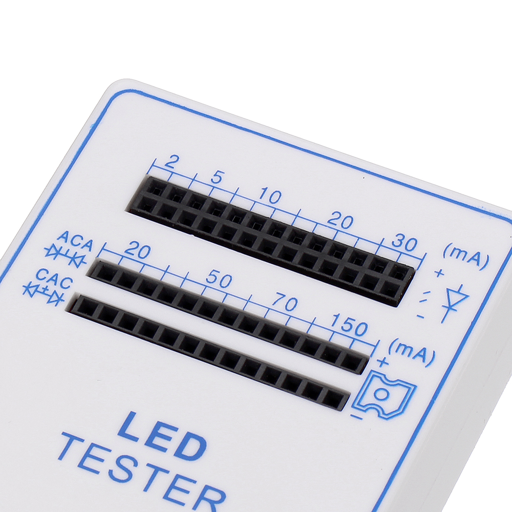 10pcs 2-150mA Mini Handy LED Test Lamp Box Tester for Light-emitting Diode Lamp Bulb Battery Tester Handy Device