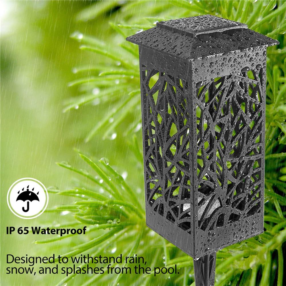 Solar LED Landscape Lawn Lamp Torch Garden Lantern Light Outdoor Waterproof