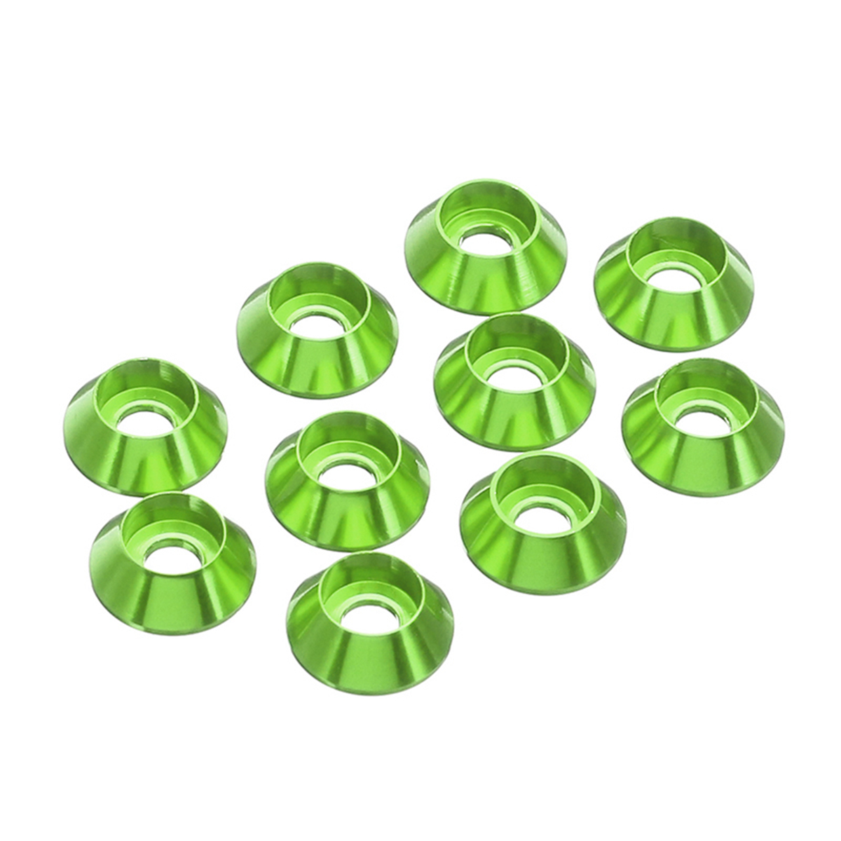 Suleve™ M6AN1 10Pcs M6 Cup Head Hex Screw Gasket Washer Nuts Aluminum Alloy Multicolor