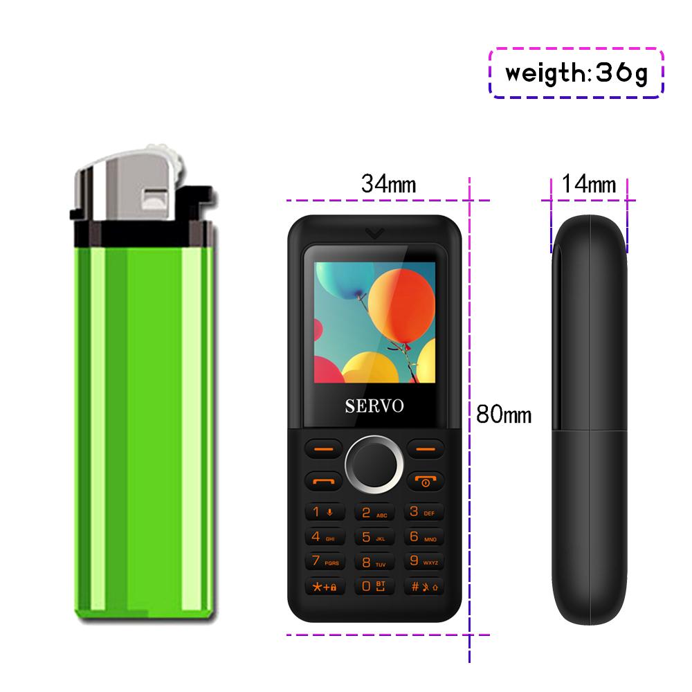 SERVO M5 1.3 Inch 380mAh BT Dialer Vibration Bluetooth Magic Voice Camera HD Recorder Dual Sim Card Mini Card Phone