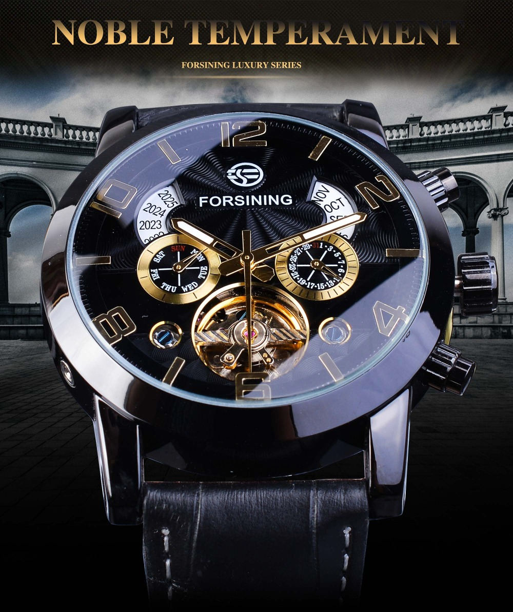 Forsining GMT373 Week Year Display Mechanical Watch