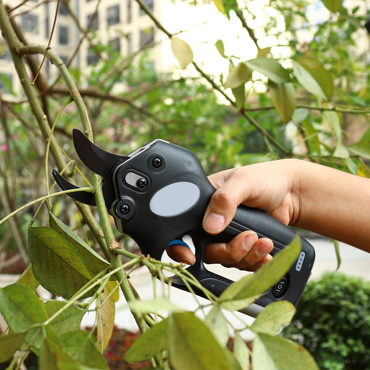 150W Cordless Rechargeable Pruning Shears Secateurs Low Noise Branch Cutter Scissor Snips Kit