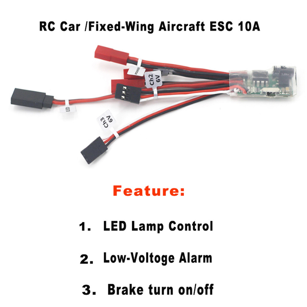 DumboRC 10A Brushed ESC Two Way Speed Controller with Brake for RC Vehicle Models Car Boat Tank Airplane