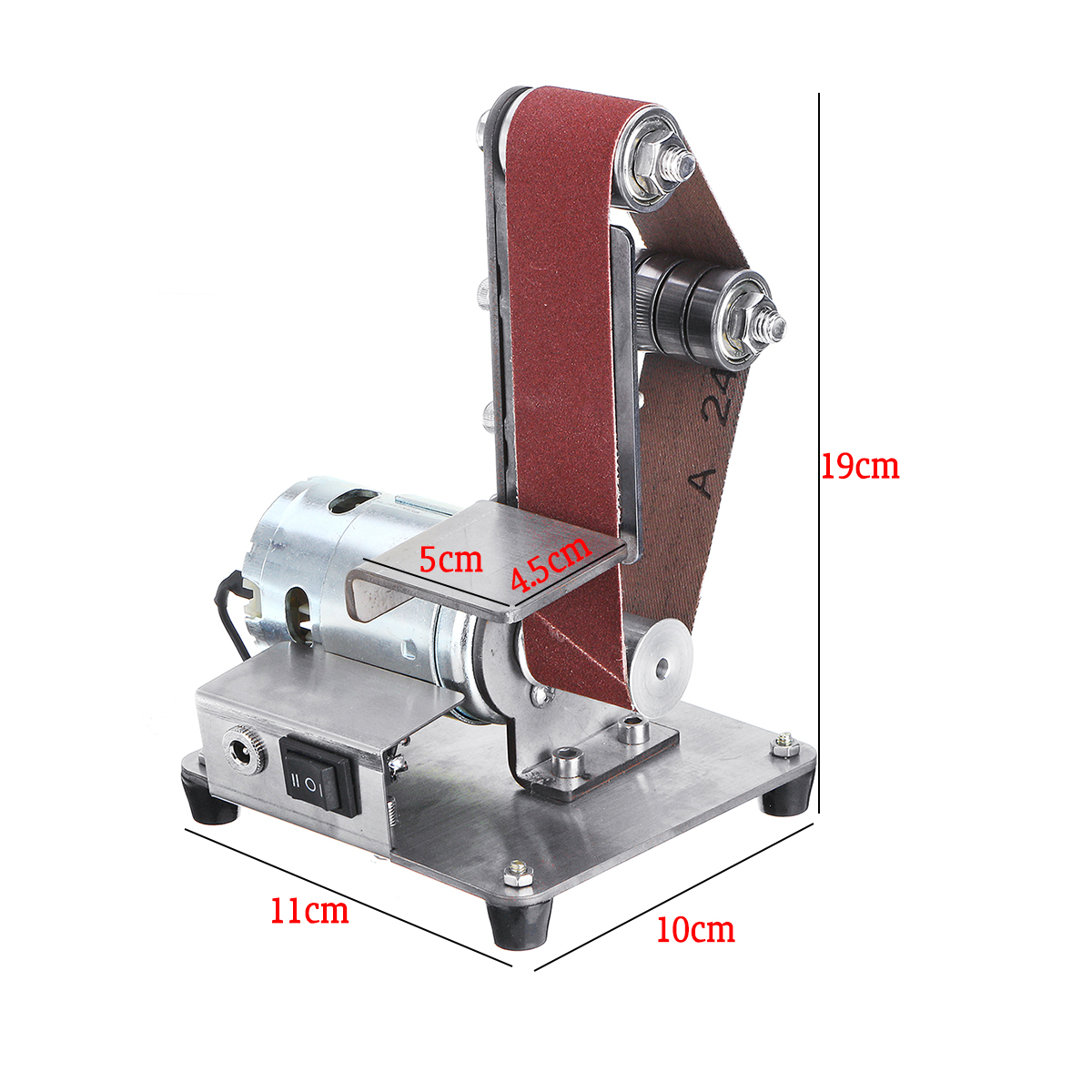 350W 4000-9000RPM Electric Adjustable Speed Mini Belt Sander Polishing Grinding Machine Antiskid Abrasive Belts Grinder