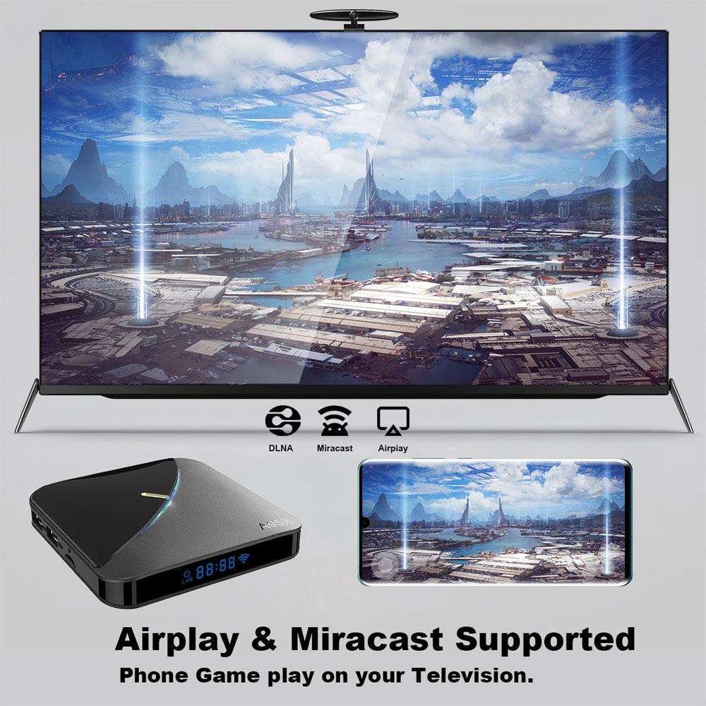 A95X F3 Amlogic S905X3 4GB RAM 32GB ROM 5G WIFI bluetooth 4.0 Android 9.0 4K 8K TV Box with 64 RGB Light