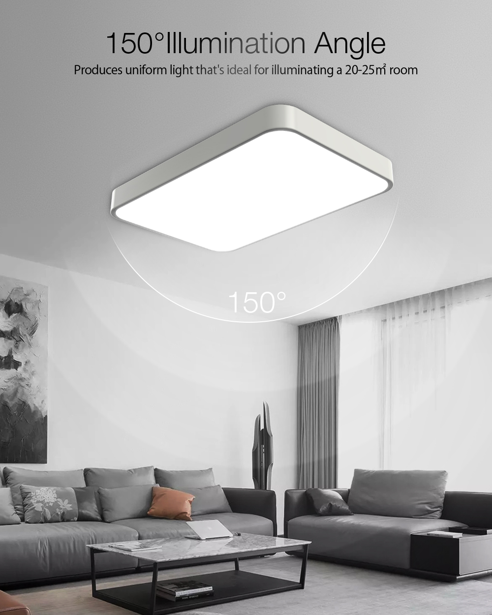 DIGOO DG-MD102 AC185-265V 48W Stepless Dimming Color Temperature Adjustable Remote Control Ultra-thin Ceiling Light