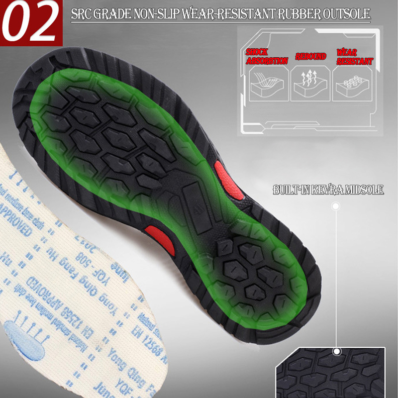 Lightweight Mesh Breathable Steel Toe Safety Work Shoes