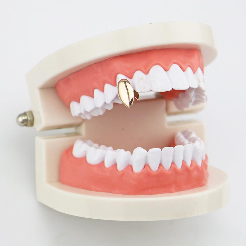 Vampire Dog Teeth Geometric Gold Plated Grillz Jewelry