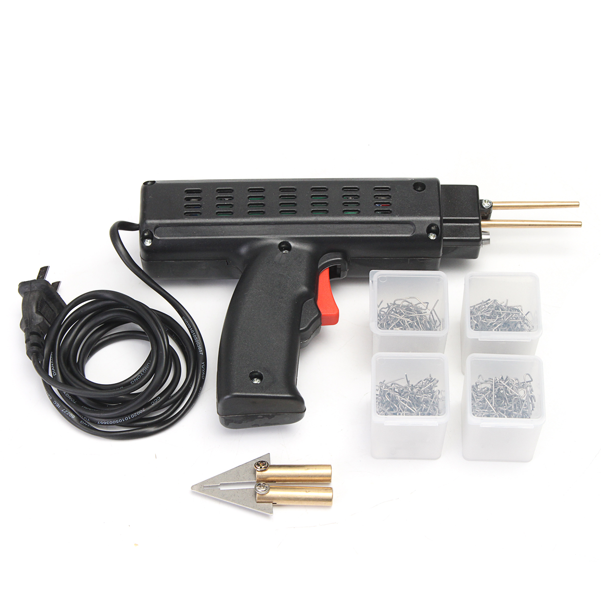 220V Plastic Welder Car Bumper Repairing Machine Repair Hot Stapler with 200pcs Staples