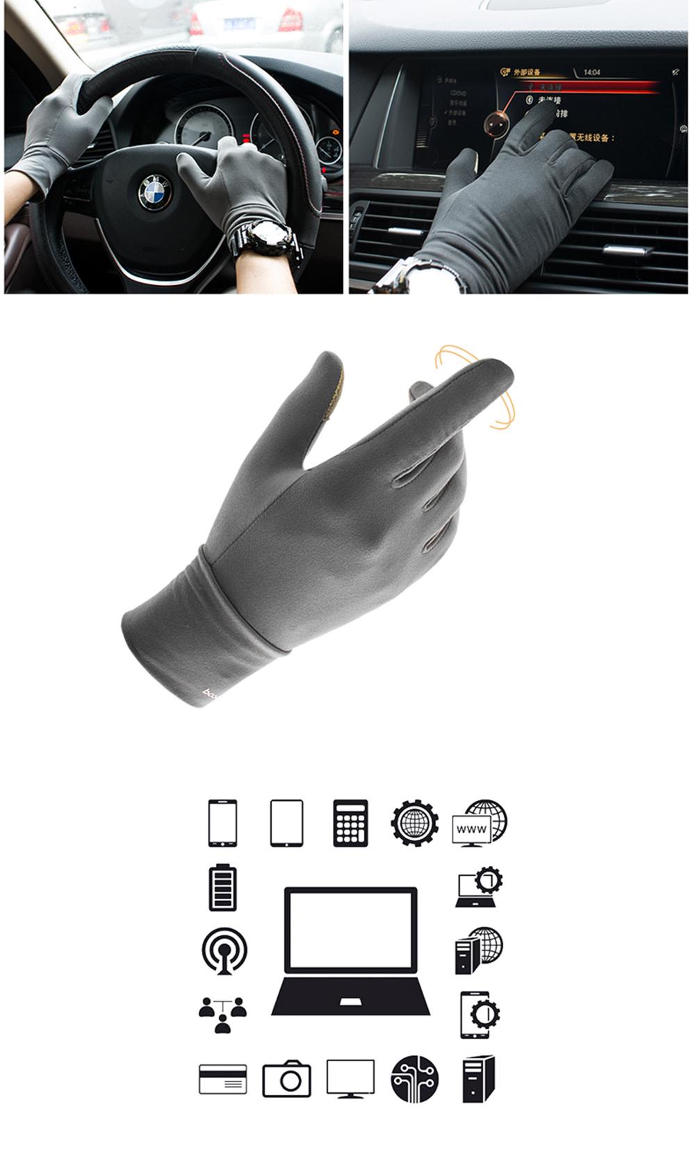 Bakeey Screen Touch Handschoenen Elastische Lycra Warm antislip Anti-zweet Elektronische Sport Outdoor Motorfiets Fietspellen Touchscreen Handschoen