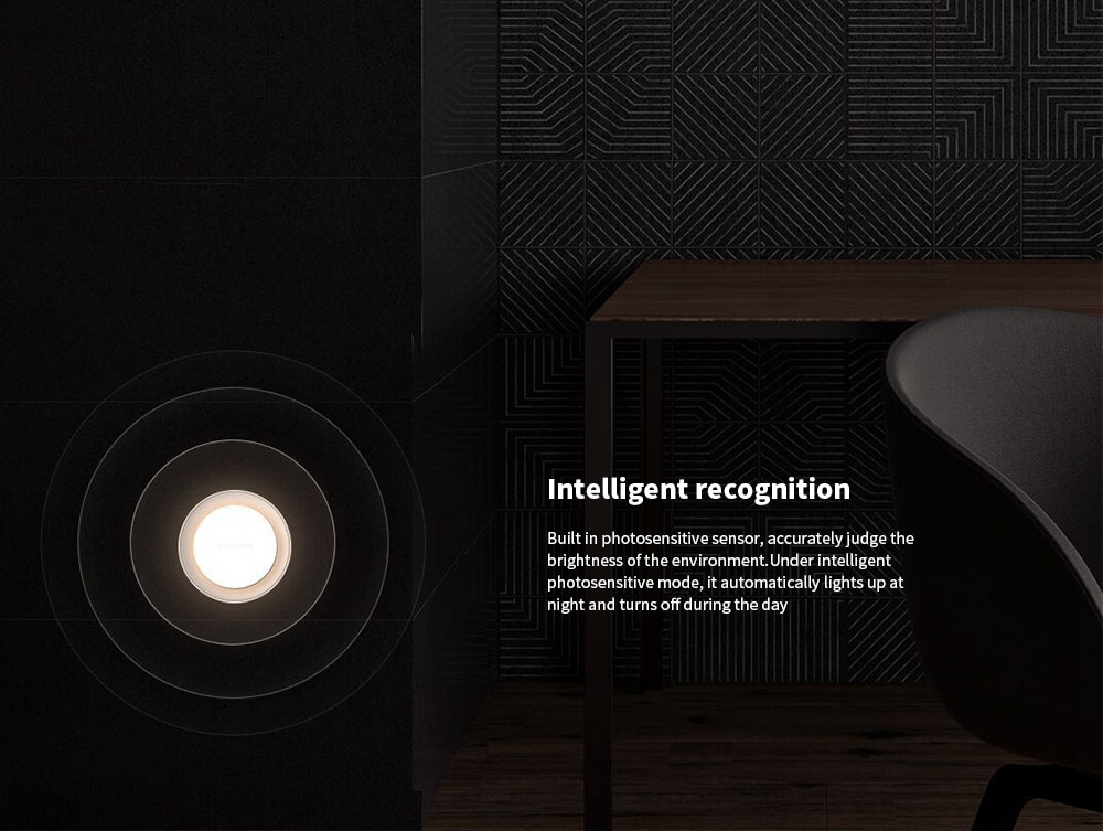Yeelight YLYD10YL Round Light-controlled Sensor Night Light Ultra-Low Power Consumption AC220V (Xiaomi Ecosystem Product) Coupon Code: BGYEE99 Only $9.99