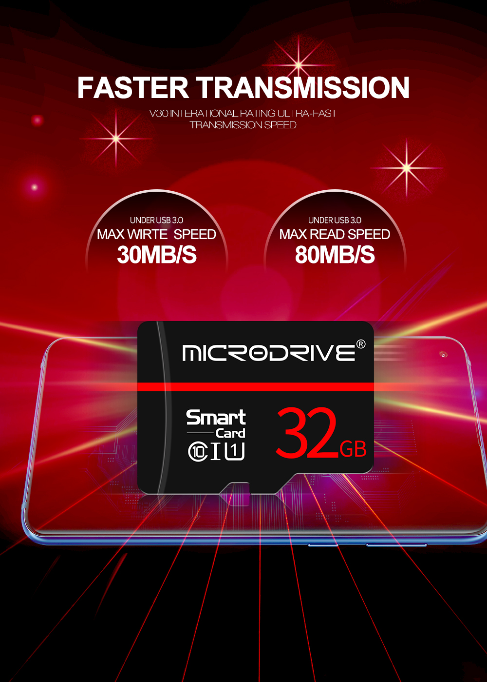 MicroDrive 8GB 16GB 32GB 64GB 128GB Data Transmission C10 Class 10 High Speed TF Memory Card With Card Adapter For Smart Phone Tablet PC GPS Camera Car DVR