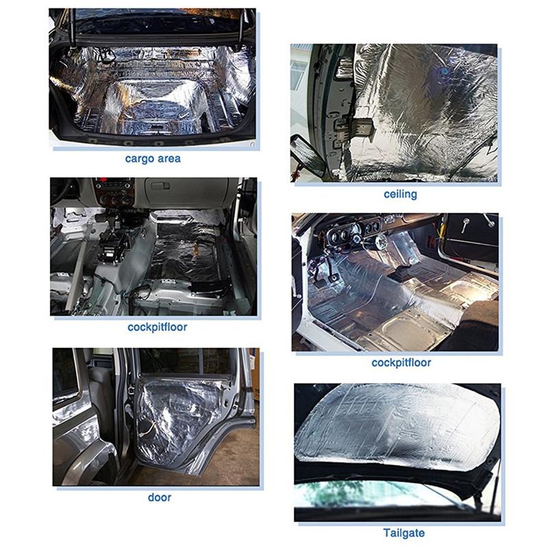 12 Sheets 10mm Car Van Sound Proofing Deadening Insulation Closed Cell Foam