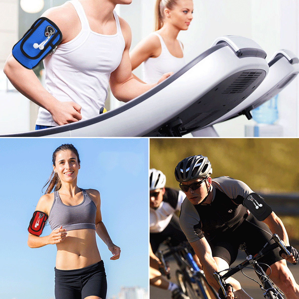 Bakeey Universal Waterproof Fabric Mobile Phone Armband Outdoor Gym Sports Running Jogging Wrist Arm Bag for Mobile Phone below 5.5 inch