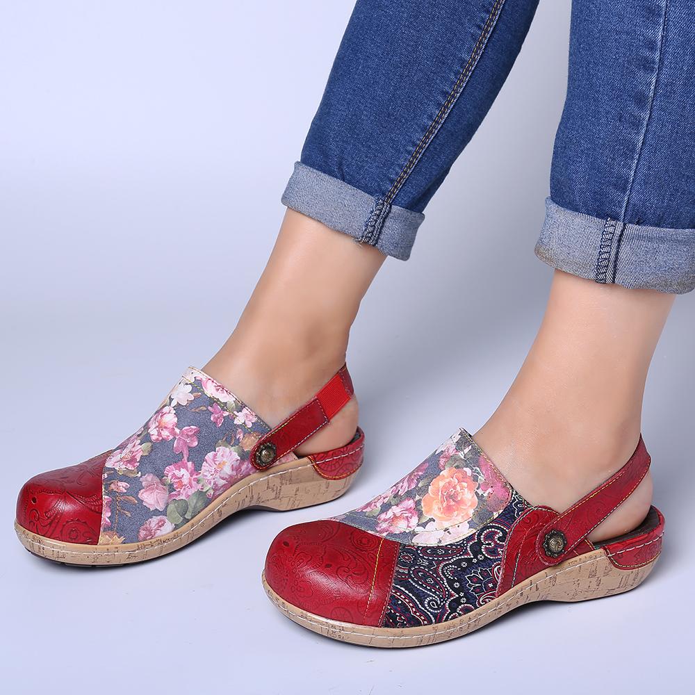 Chaussures de couture confortables et rétro