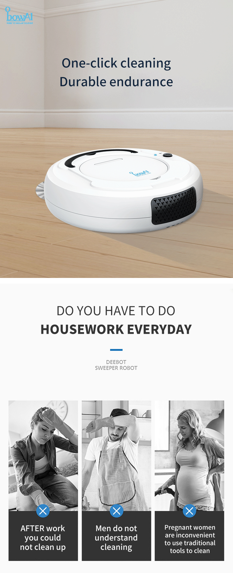 bowAI USB Charging Smart Sweeping Robot Intelligent Sweeping Robot Household Appliance Cleaning Machine Sweeping Machine Vacuum Cleaner