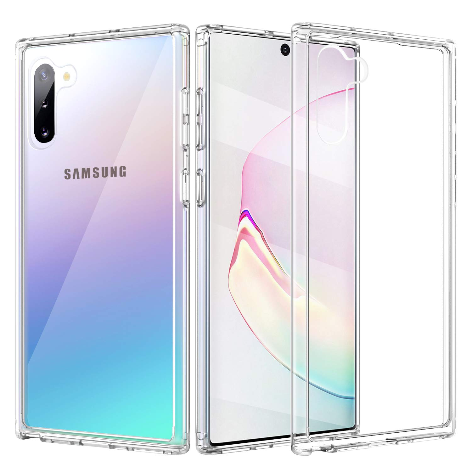 Bakeey Clear Transparent Shockproof PC TPU Protective Case For Samsung Galaxy Note 10 Plus/Note 10+ 5G