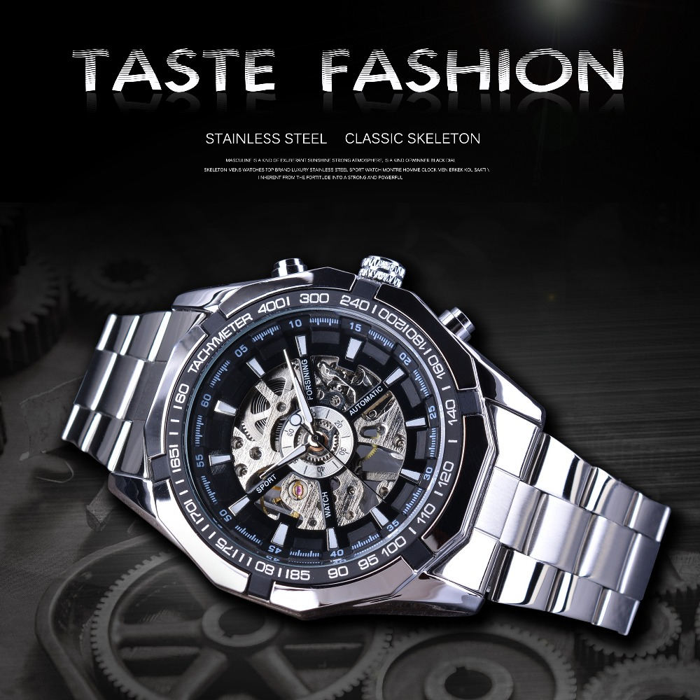Forsining S101 Waterproof Luminous Display Mechanical Watch