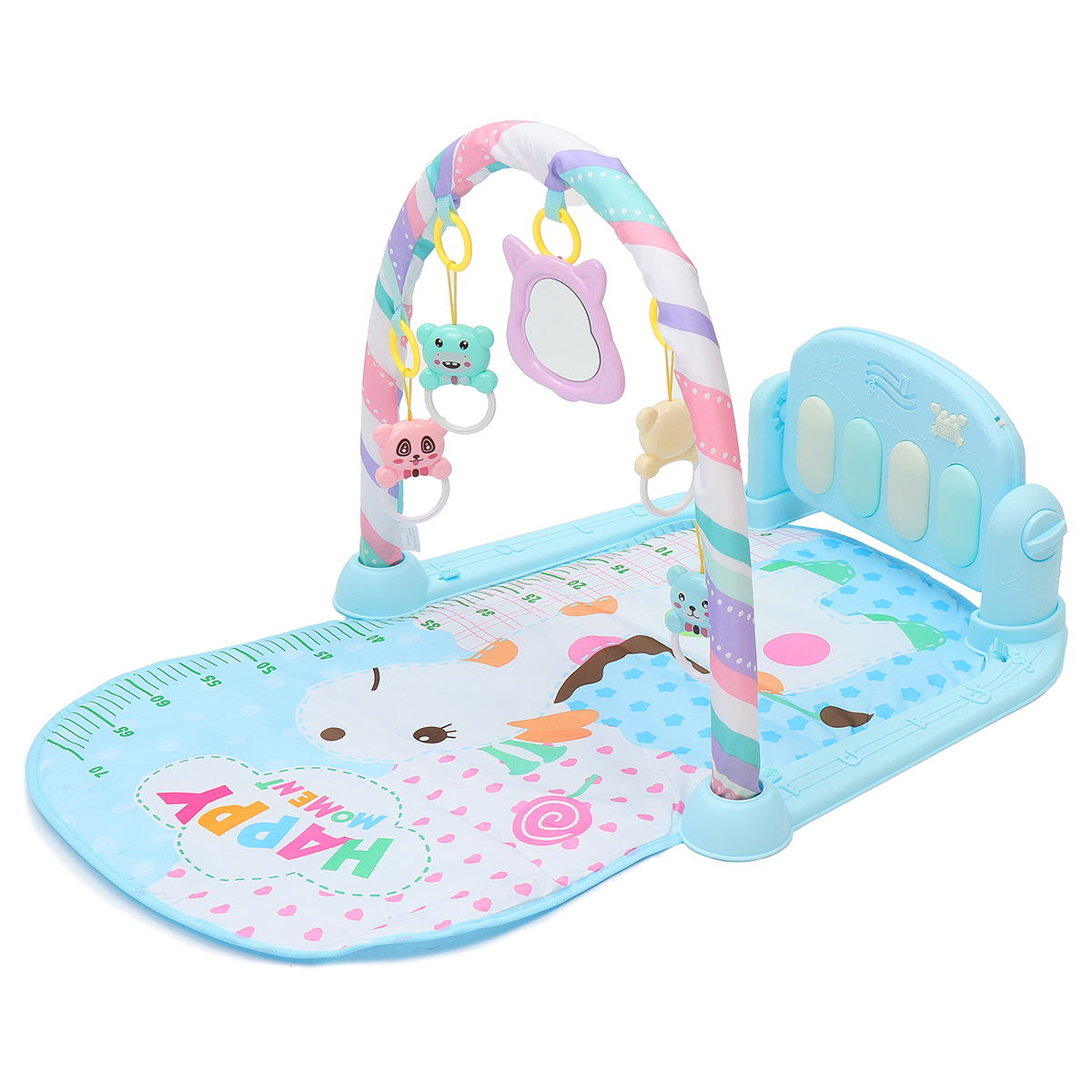 Baby Play Mat Gym Fitness Music Lights Fun Piano Boy Girl Rack Early Education