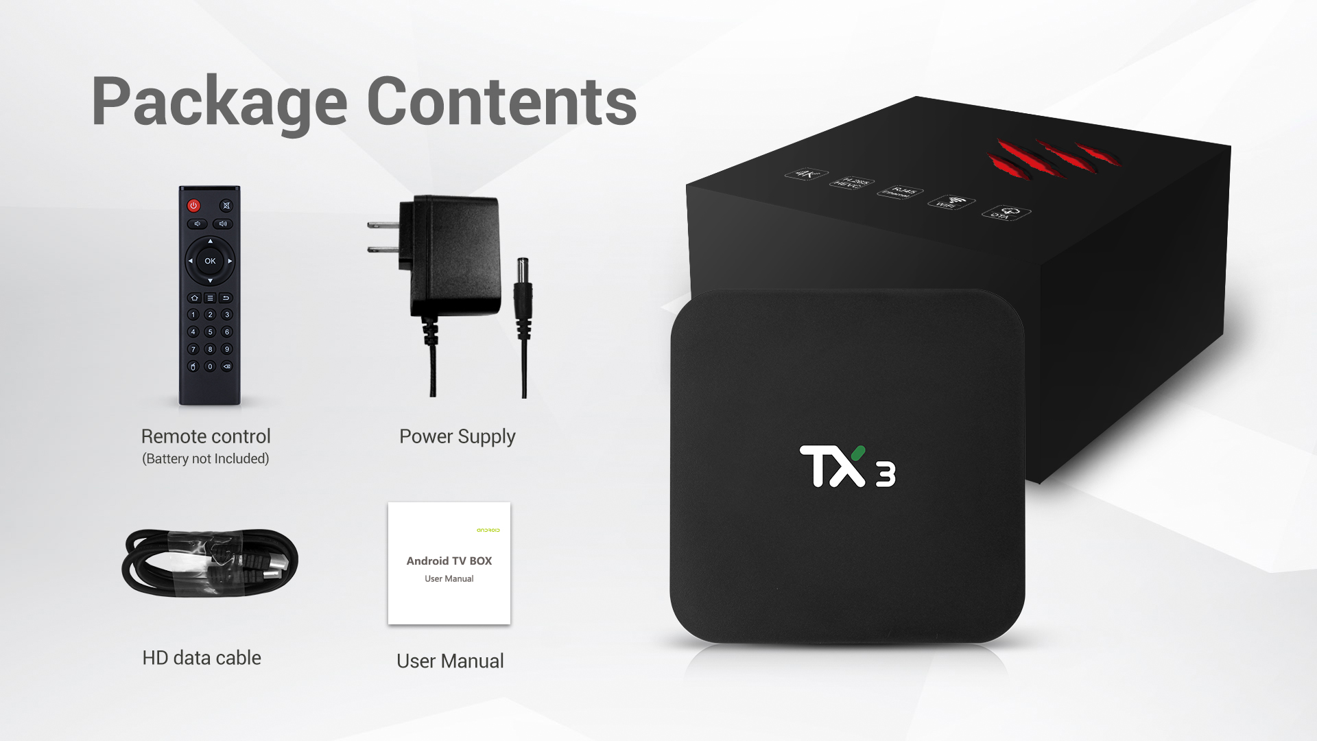 Tanix TX3 S905X3 4GB RAM 64GB ROM 2.4G 5G WiFi Android 9.0 4K 8K TV Box Support Voice Control