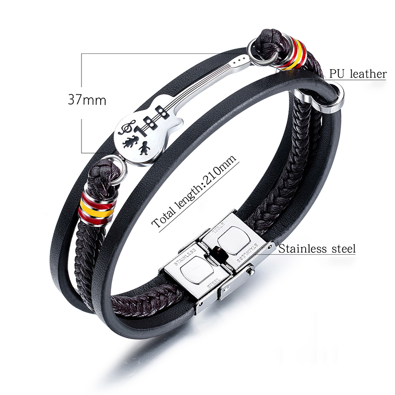 Leather Multi-layer Woven Leather Rope Bracelet