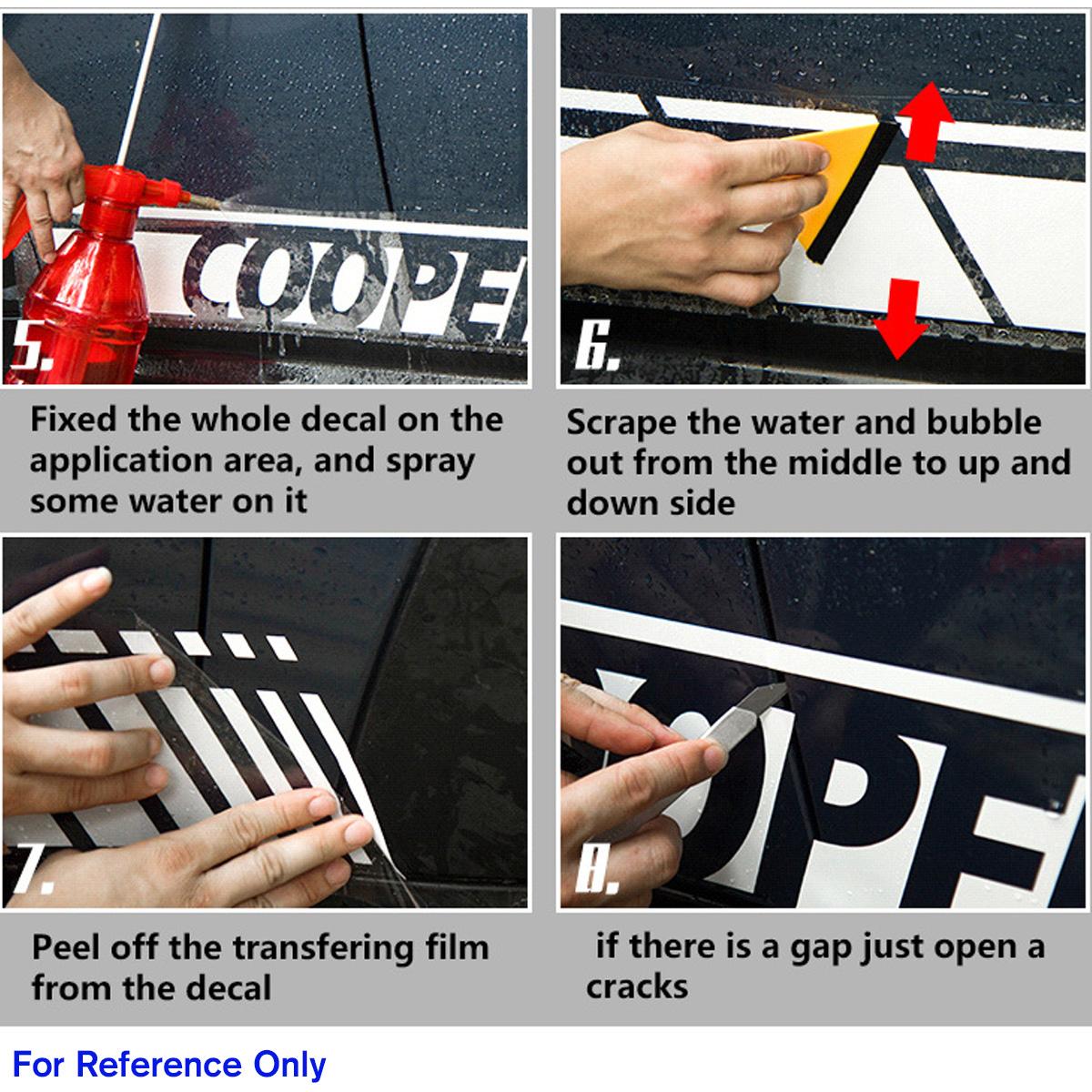 5D Carbon Fiber Racing Side Stripe Car Decals Stickers For Mercedes-Benz C Class W204 C180 C200 C230 C280 C300 C320 C350 C63 AMG