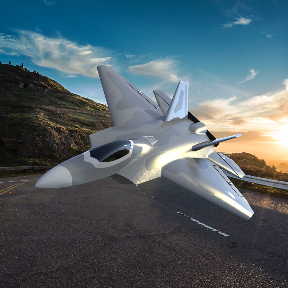 Eachine Mini F22 Raptor EPP 260mm Wingspan 2.4G 4CH 6-Axis Gyro RC Airplane Trainer Warbird Fixed Wing RTF One Key Aerobatic for Beginner - Photo: 11
