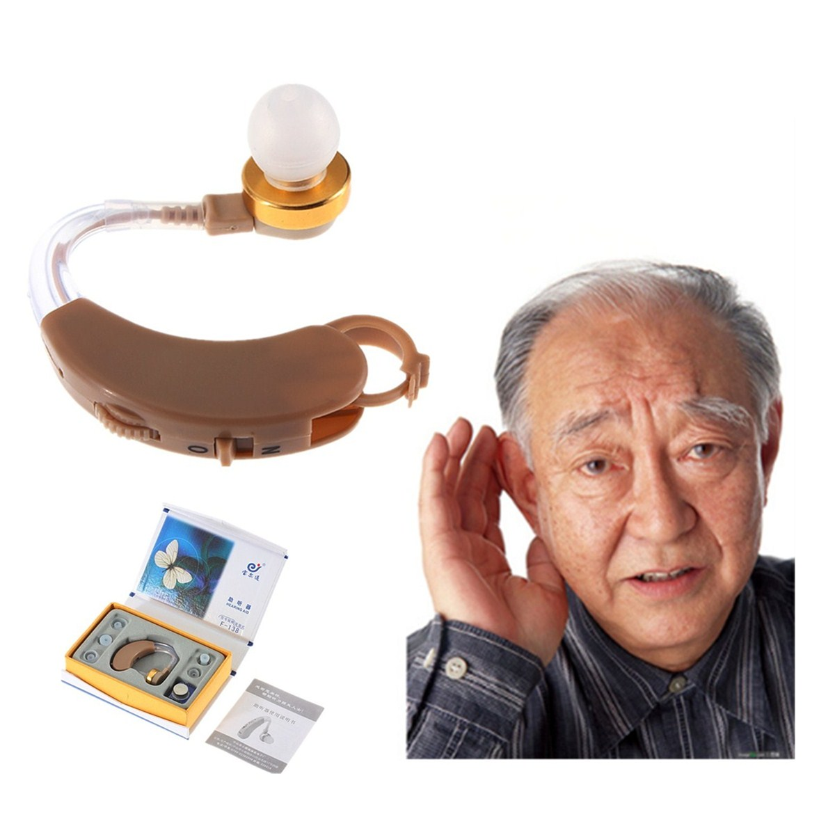 Portable Digital Tone Hearing Aids Aid Sound Amplifier