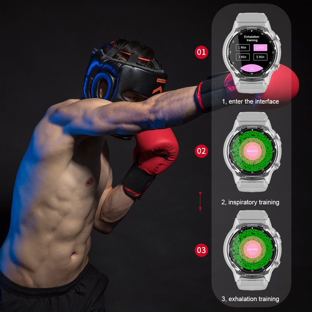 Bakeey TK04 GSM bluetooth Call Built-in GPS Air Pressure Compass Heart Rate Blood Pressure Weather Smart Watch Phone
