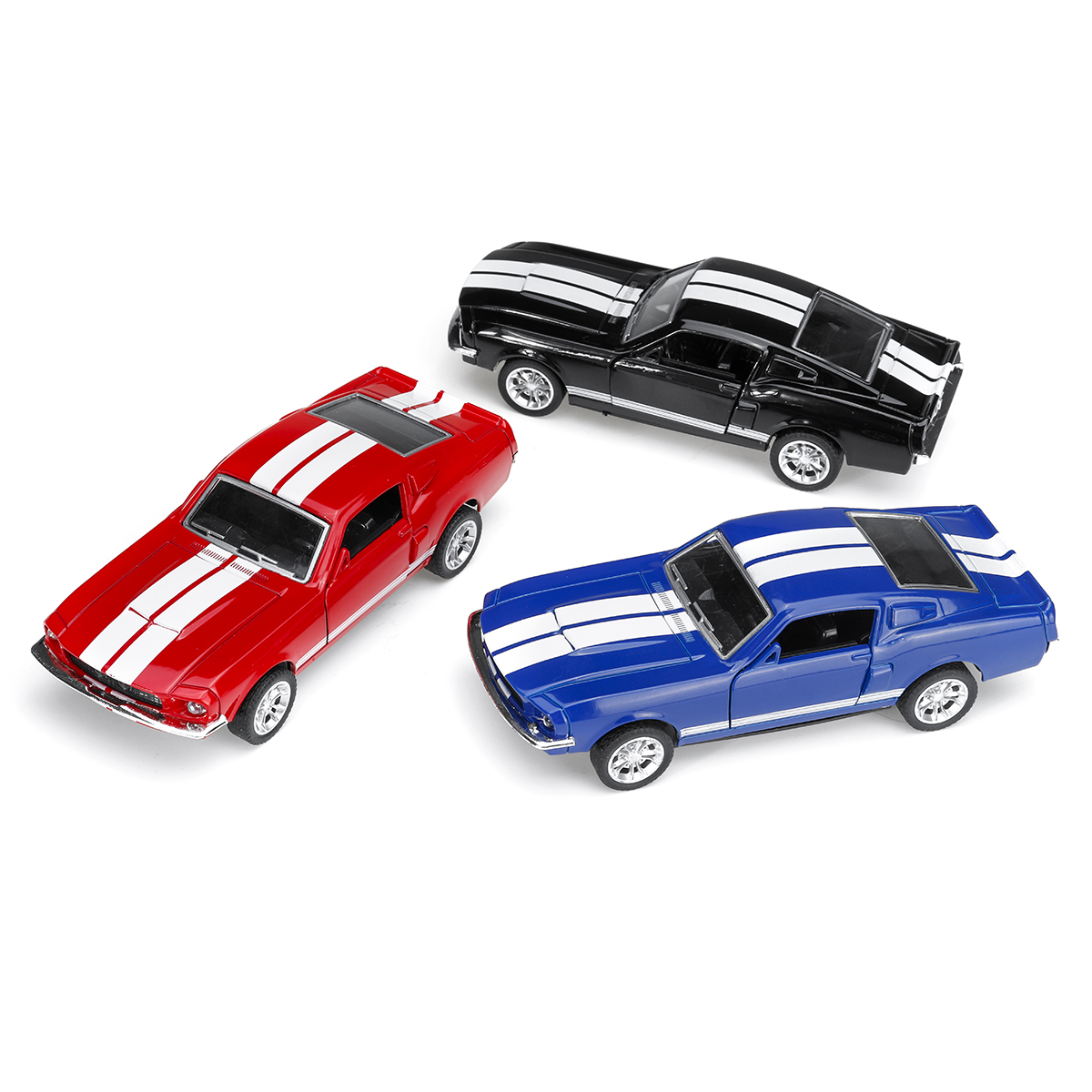 1:32 Alloy Fords Mustang GT 1967 GT500 Return Diecast Car Model Toy for Children Gift - Photo: 3