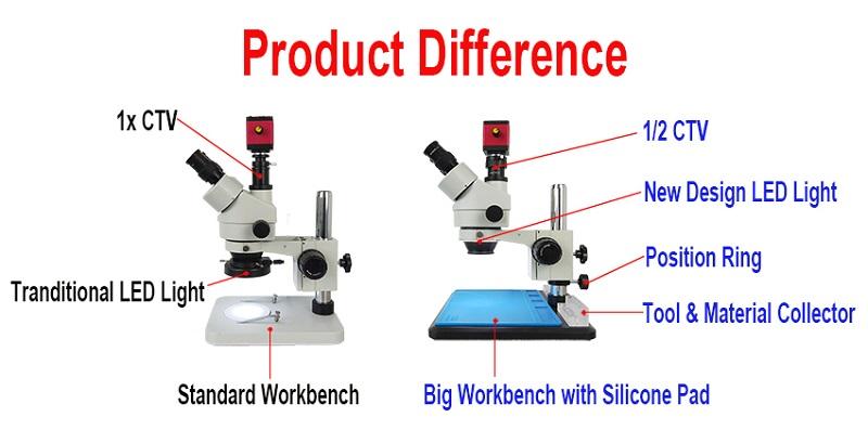 Efix 3.5-45X 13MP Trinocular Stereo Soldering Microscope Stand Lens Digital Camera for Repair Mobile Phone Tools Kits