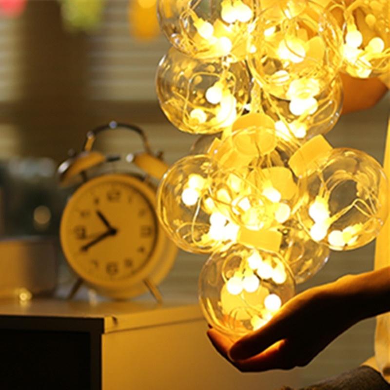 AC220V 3M Glass Ball LED String Light for Outdoor Christmas Home Decor EU Plug