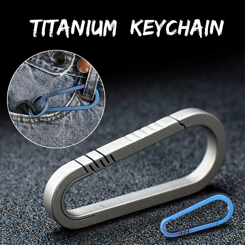 Mini Lightweight Titanium Keychain Backpack Hanging Buckle Motorcycle Carabiner Hot