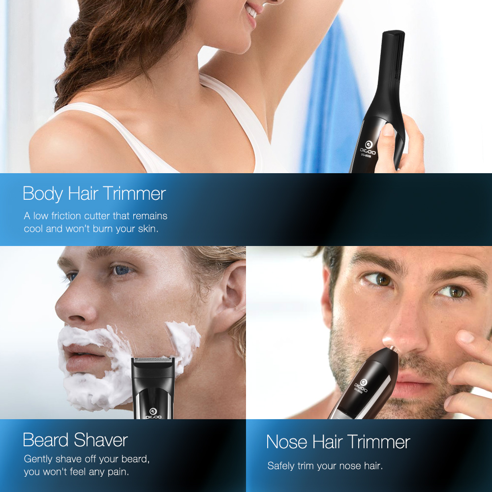 Digoo 12 in 1 Hair Clipper Grooming Trimmer Kit Cordless
