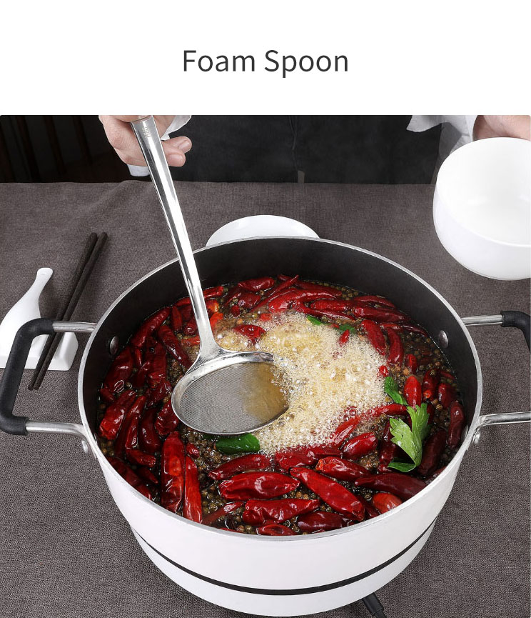 HUOHOU 3PCS/Set Stainless Steel Soup Spoon Small Colander Floating Foam Spoon From Xiaomi Youpin
