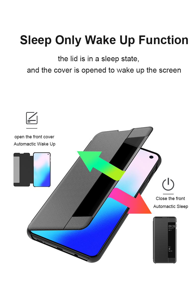 Bakeey Smart Sleep Window View Stand Flip Protective Case For Samsung Galaxy S10e/S10/S10+