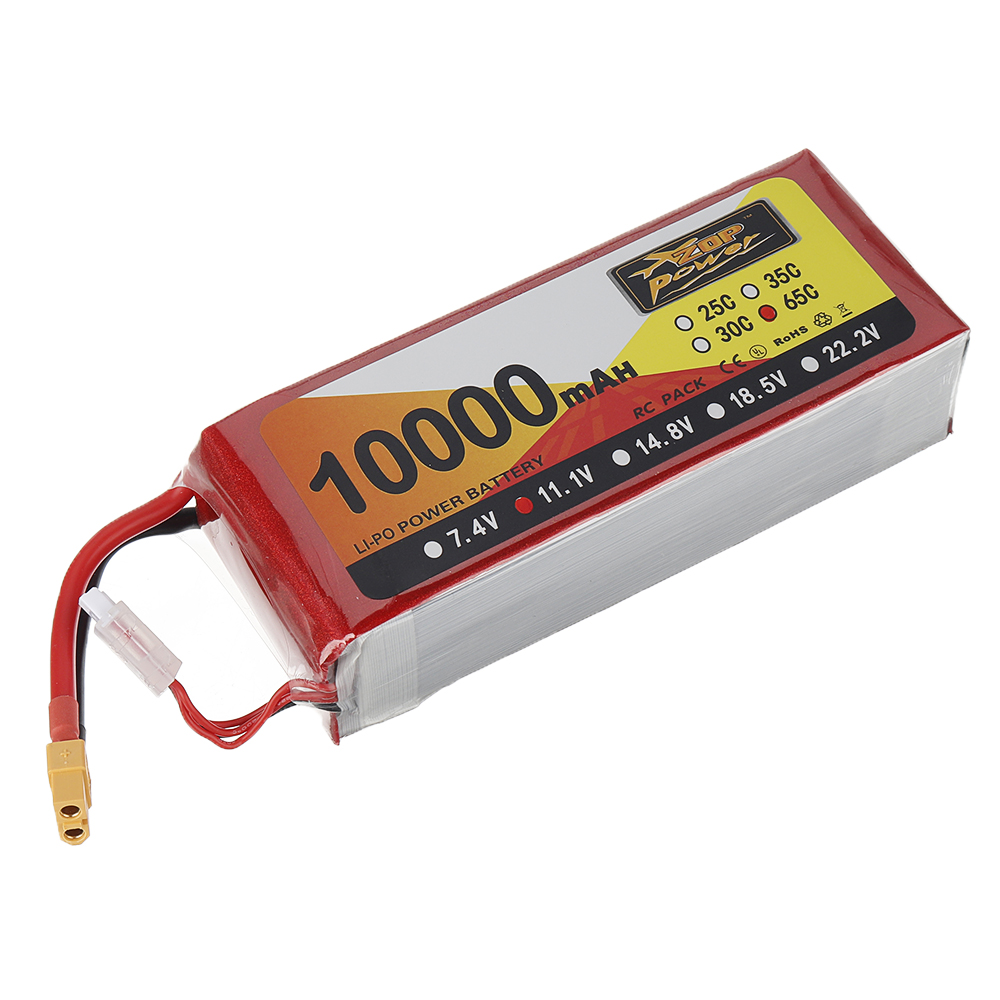 ZOP Power 11.1V 10000mAh 65C 3S Lipo Battery XT60 Plug for FPV RC Quadcopter Agriculture Drone - Photo: 3