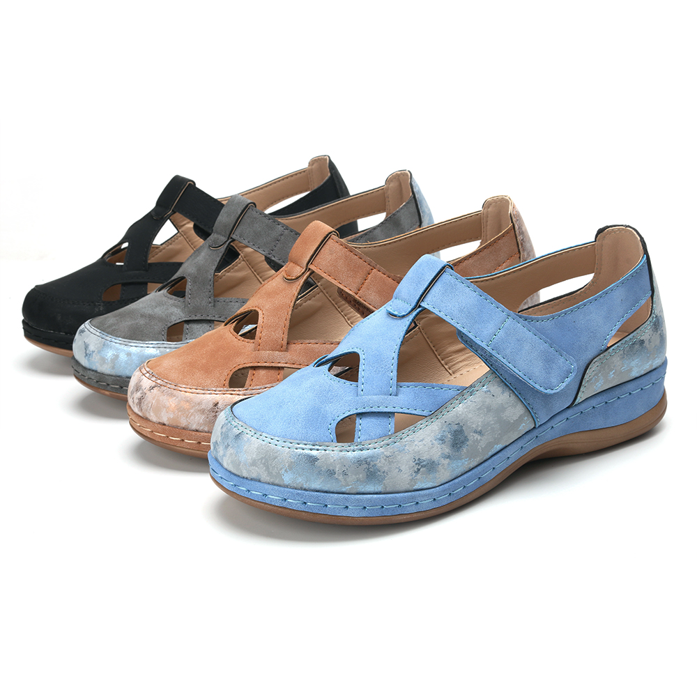 Women Casual Cross Strap Hollow Out Comfortable Flats