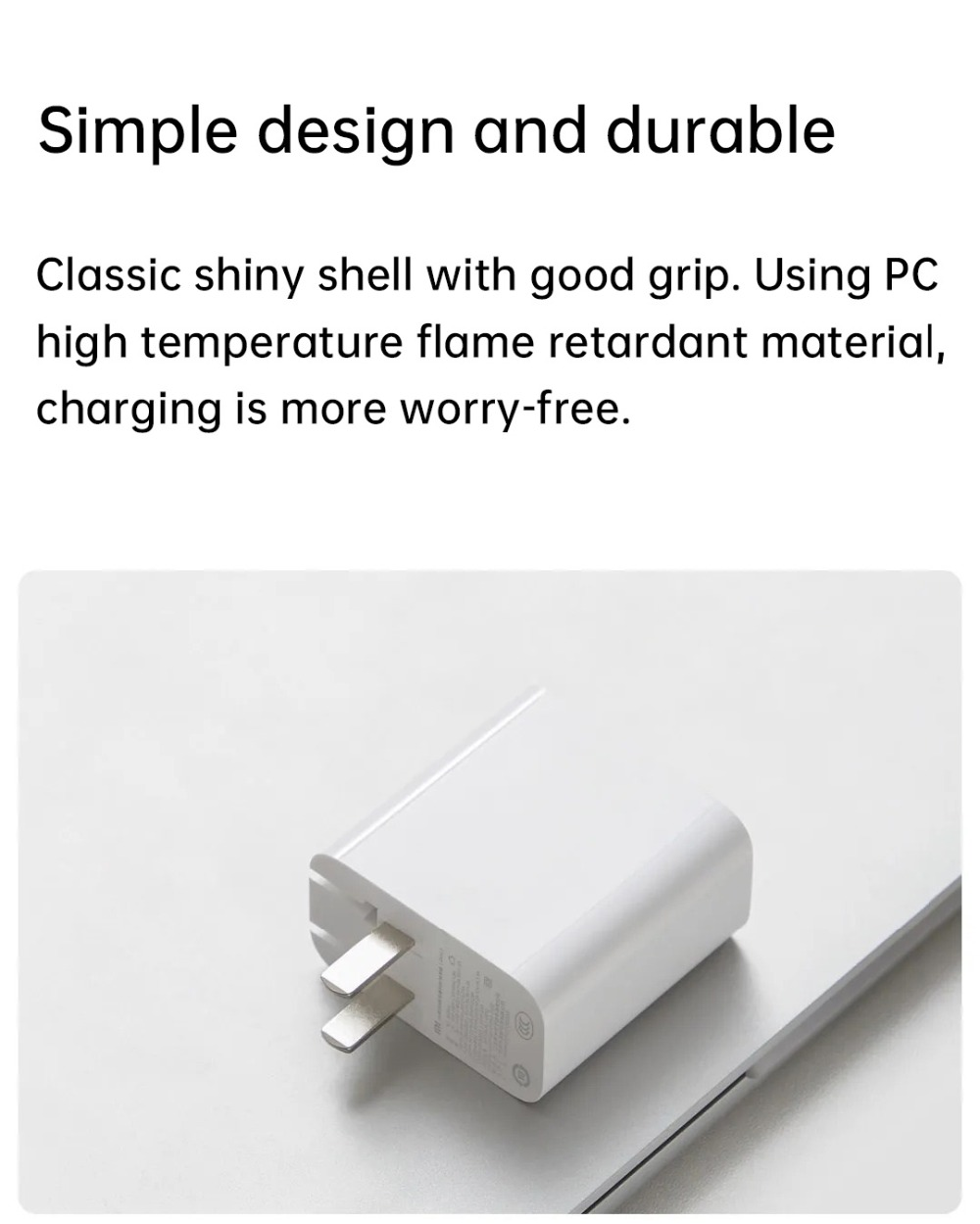 Original Xiaomi 65W 2A1C Triple Output Travel USB Charger Type-C Smart Output USB-A 18W Max Quick Charging