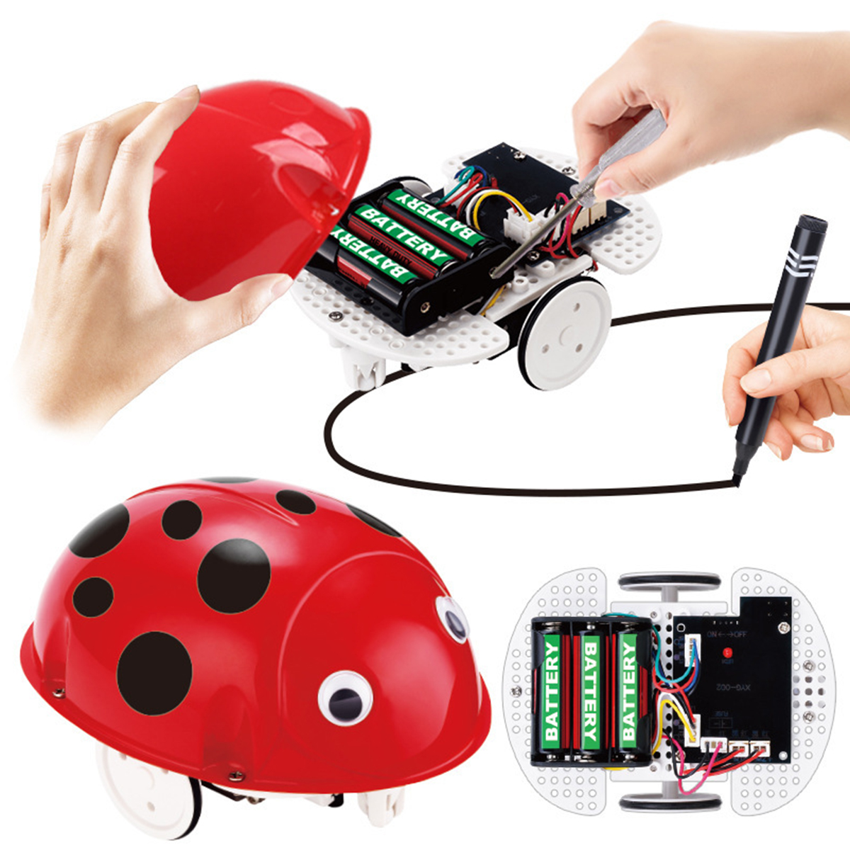 Robot Toys Educational Pen Inductive Toy Follow Any Drawn Line Cute Gift for Children - Photo: 6