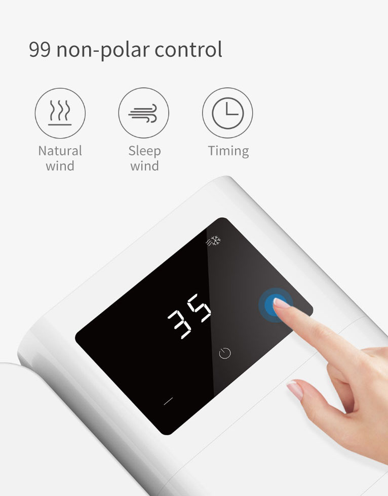 MICROHOO 6W 1000ml Water Capacity White Mini Air Conditioner From Xiaomi Youpin Touch Screen Adjustment Energy Saving Low Noise