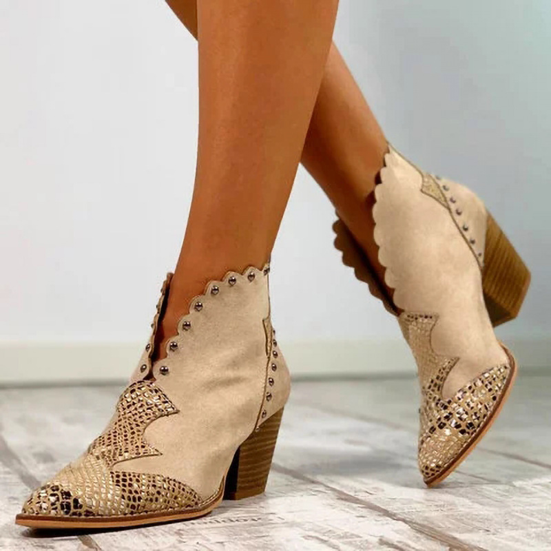 Women Plus Size Suede Laciness Breathable Ankle Boots