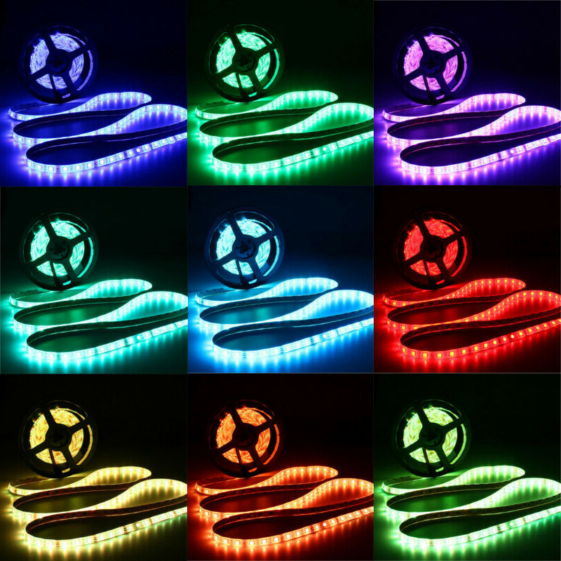 DC12V 5M 10M 5050 RGB Timer Function LED Strip Light Waterproof With 40kEYS Remote Control + Music Controller