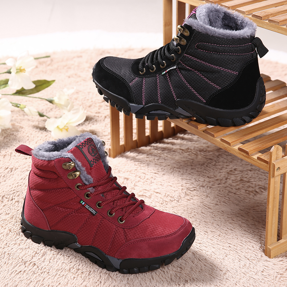 Women Large Size Non-slip Outdoor Warm Hiking Snow Boots
