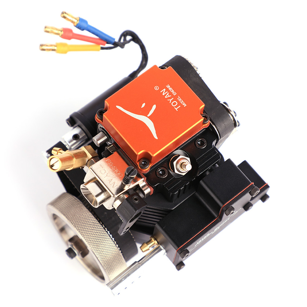 Toyan4 Stroke RC Engine Gasoline Model Engine Kit Starting Motor For RC Car Boat Airplane Toyan FS-S100G