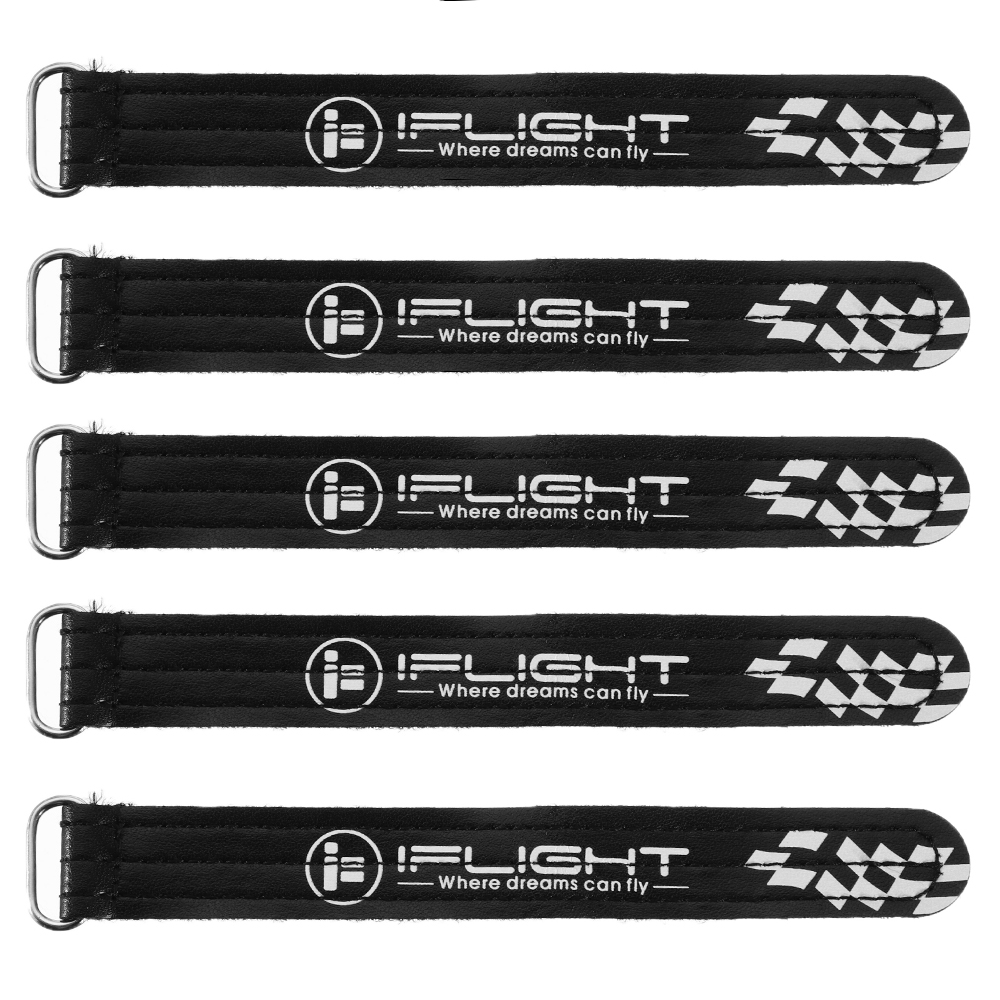 5Pcs iFlight 20*150mm 15*200mm Battery Strap Metal Buckle Black for RC Lipo Battery - Photo: 2