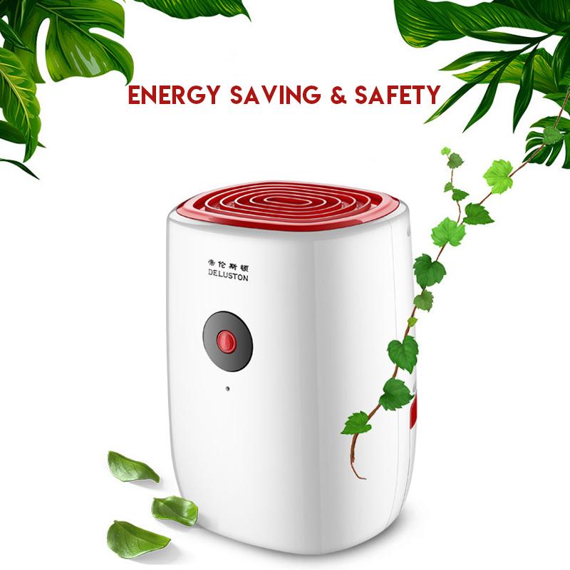 800ML Portable Mini Dehumidifier Moisture Absorber Air Dry Water Tank For Home Air Dehumidifier