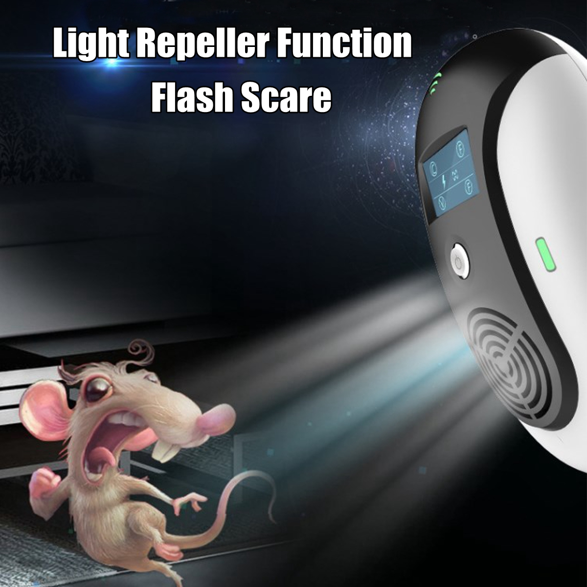 Electronic Ultrasonic Pests Repeller Control Bug Mosquito Mouse Cockroach Killer Reject