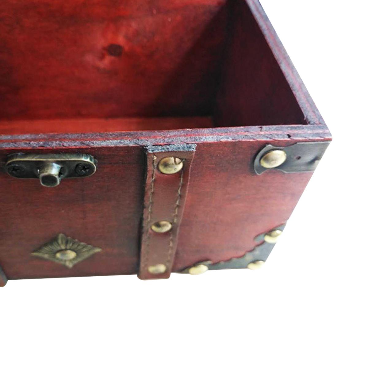 Wooden Square Jewelry Box Wooden Retro Box Prop Storage