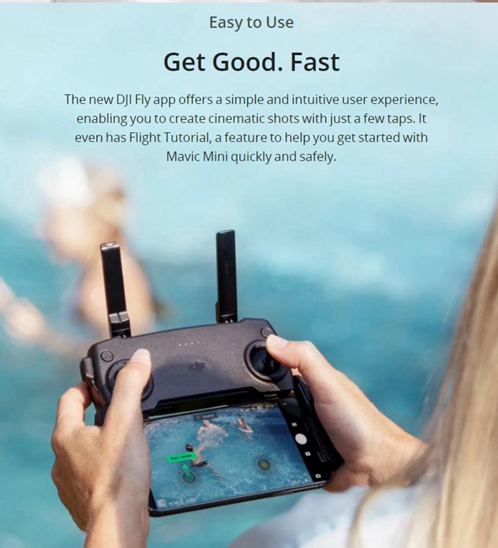 DJI Mavic Mini 4KM FPV with 2.7K Camera 3-Axis Gimbal 30mins Flight Time 249g Ultralight GPS RC Drone Quadcopter RTF